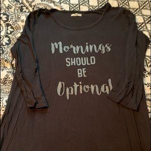 """Mornings should be Optional""T-shirt"
